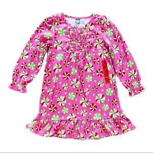christmas nightgown winter soft holiday girls 8